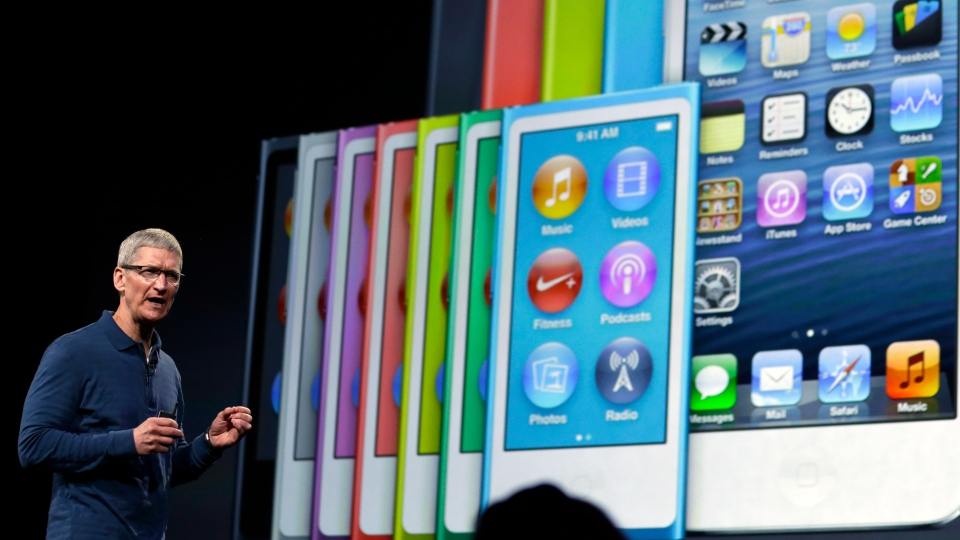 Apple CEO Tim Cook speaks during an event to announce new products in San Jose, Calif., Tuesday, Oct. 23, 2012. (AP / Marcio Jose Sanchez)