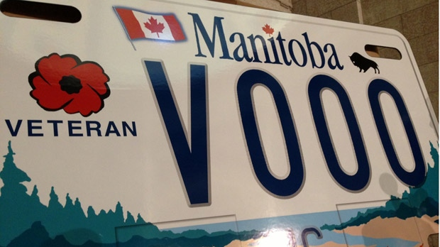 Motorcycle plates for Manitoba veterans