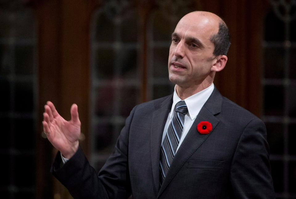 Veterans Affairs Minister Steven Blaney responds to a question during Question Period in the House of Commons in Ottawa, Tuesday November 6, 2012. (Adrian Wyld / THE CANADIAN PRESS)