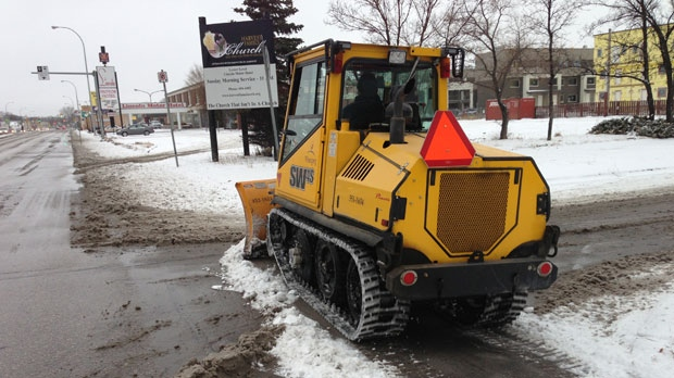 A City of Winnipeg snow plow is show in this file image.
