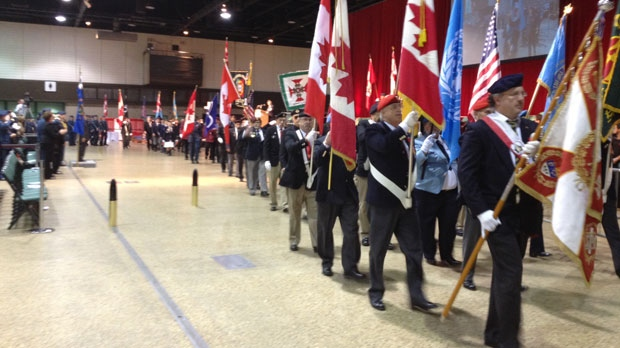 Hundreds gathered at the Winnipeg Convention Centre Sunday for the annual Remembrance Day ceremony.