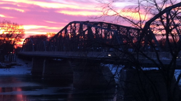 Redwood Bridge in Winnipeg