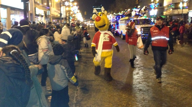 Thousands came out to view the annual Santa Claus Parade Saturday night.