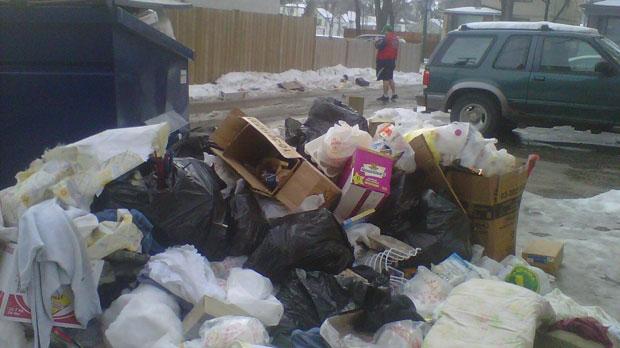 garbage notre dame avenue