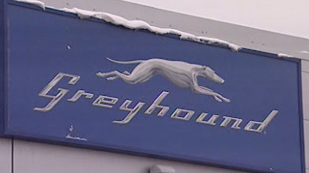 The Greyhound bus depot in Winnipeg, Manitoba.