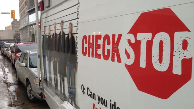 Winnipeg police check stop