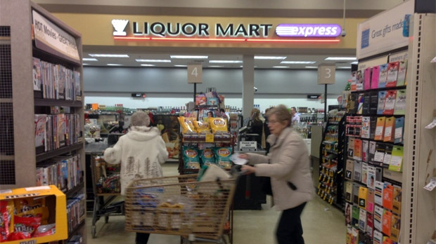 Liquor Mart Express in Winnipeg grocery store