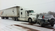 Perimeter Highway crash (semi)