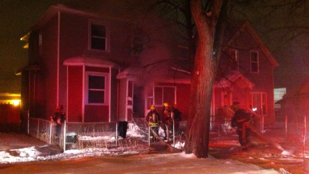 Police are investigating a suspicious fire on Simc