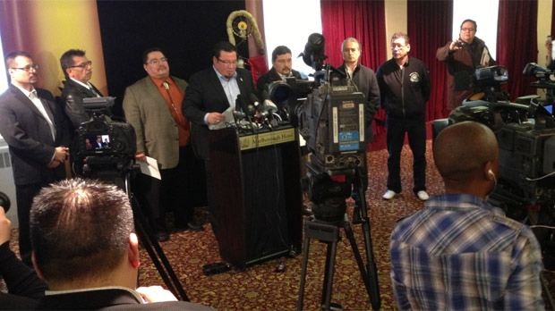 First Nation leaders held a press conference on Dec. 14 to announce the legal victory in the Kapyong case.