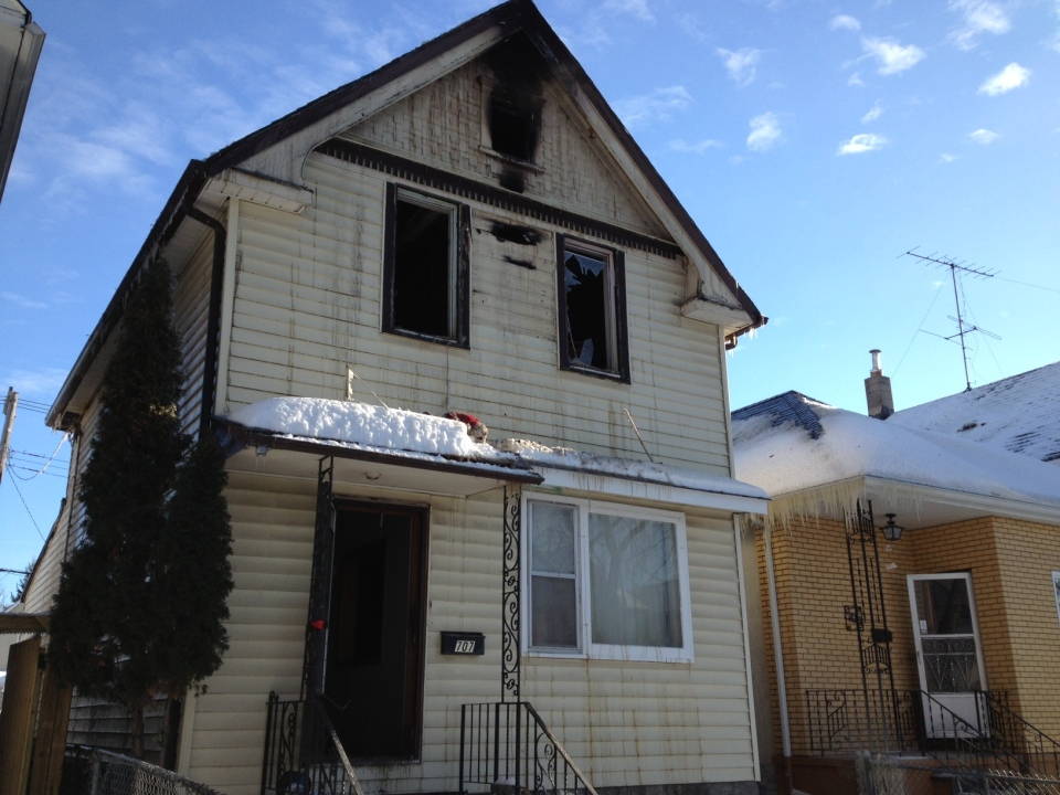 This home was badly damaged after a fire broke out Saturday morning.