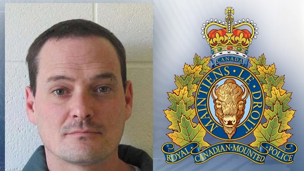 Jeremy James Fensom, 34, is wanted by RCMP for aggravated assault, multiple counts of intimidating a justice system participant, forcible confinement and possession of a firearm. (photo provided by Lloydminster RCMP)