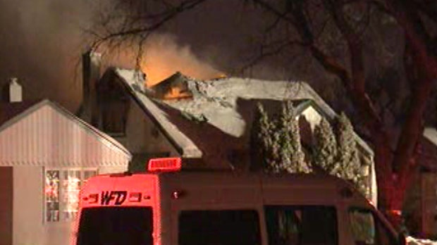 Police said one person has died in a fire that destroyed a home on Fleet Avenue Thursday morning.