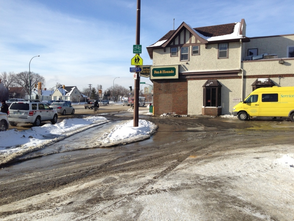 Fox & Hounds Tavern is closed Thursday due to flooding caused by a water main break.