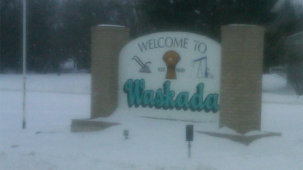 Waskada is located in the rural municipality of Brenda, about 330 kilometers southwest of Winnipeg.