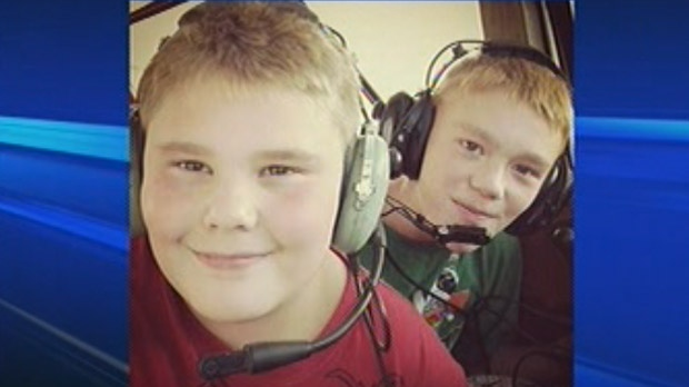 Gage and Logan died in the plane crash near Waskada, Man. on Feb. 10, 2013. (Image courtesy Facebook)