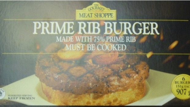 The Gourmet brand Meat Shoppe Prime Rib Burger
