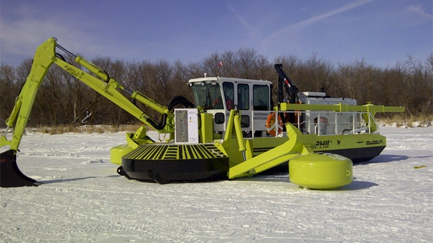 Amphibex machines have started work at Breezy Point in Manitoba.