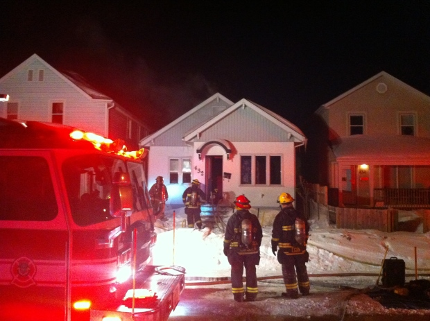 Crews responded to a house fire on Magnus Avenue.