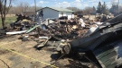 A fire early May 7, 2013 completely destroyed the grocery store on Main Street in Marchand, Manitoba.