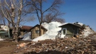 Multiple homes were hit by a wall of ice in Ochre Beach, Man. on May 13, 2013.