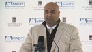 Jawad Rathore, CEO of Fortress Real Developments, speaks on May 22, 2013 regarding plans for a mixed-used highrise for downtown Winnipeg.