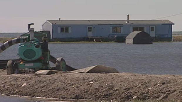 Manitoba flooding on Lake St. Martin