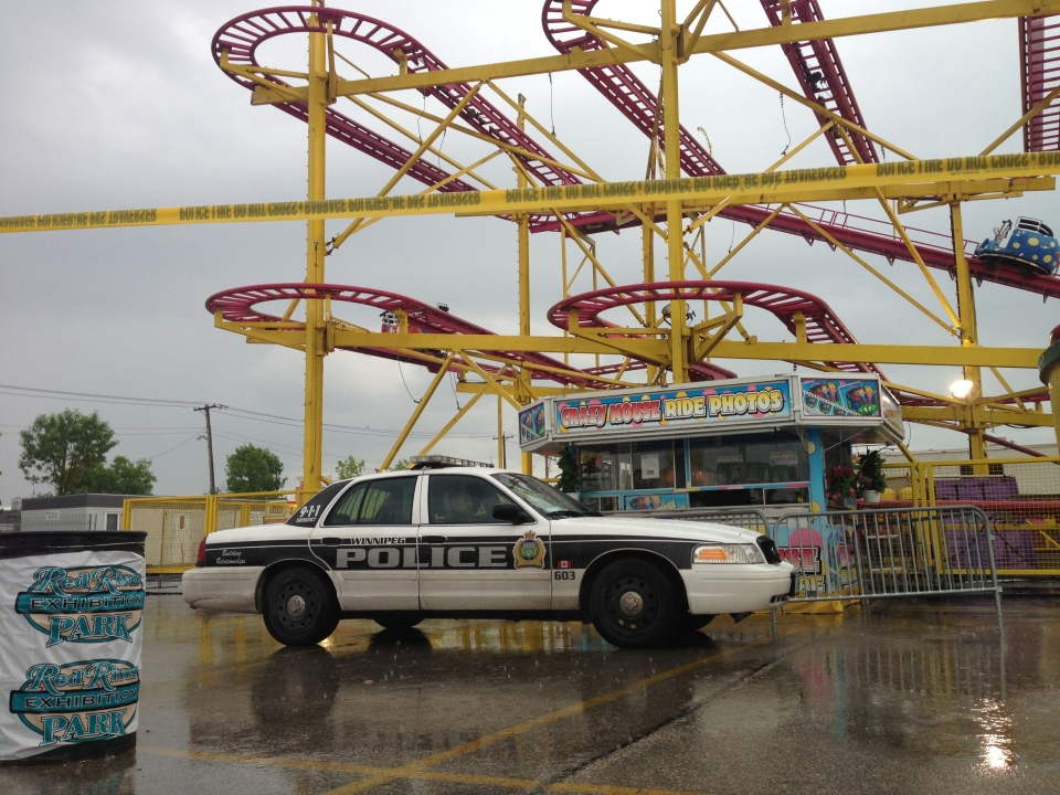 An accident involving the Crazy Mouse roller coaster at the Red River Ex Thursday evening sent one person to hospital.