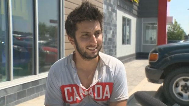 Anas Cheema, 22, had his bike stolen in Winnipeg on July 10, 2013 while in the midst of a cross-country ride for a charity.