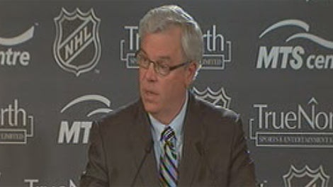 Premier Greg Selinger encouraged Manitobans to buy season tickets for the new NHL team in Winnipeg.