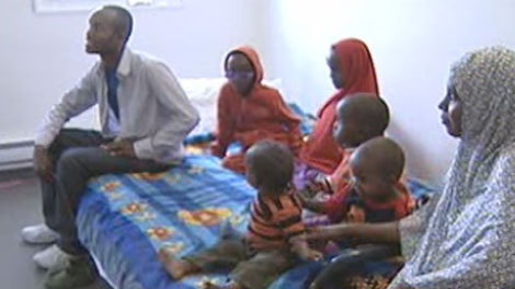 Adam Arta and his family worry about those they left behind in famine-plagued Somalia.