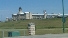 Stony Mountain prison was put back into lockdown on Monday.