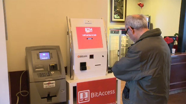 Winnipeg's first Bitcoin ATM is sure to draw a lot of attention at it's location in Santa Lucia Pizza after it went operational on Saturday, Feb. 15, 2014.