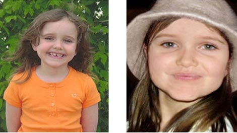 Police released images of what Emily Maryk looked like at age five in 2008 (left), and what she may look like now.