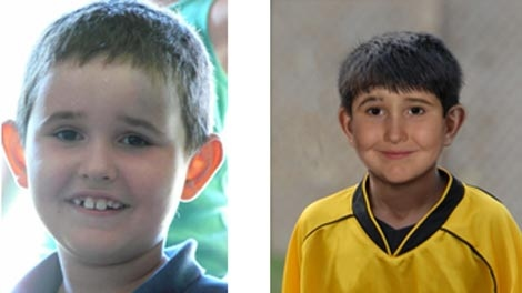 Winnipeg police released images of what abducted child Dominic Maryk looked like at age seven in 2008 (left), and what he may look like now.