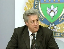 Winnipeg Police Chief Keith McCaskill speaks at a press conference in Winnipeg, Thursday, July 24, 2008.