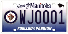 The Winnipeg Jets licence plates will cost $70 each.