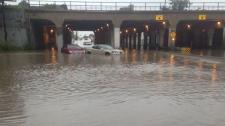 Higgins underpass flooding
