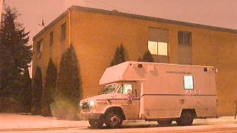 Winnipeg police were investigating at an apartment building in St. Boniface.