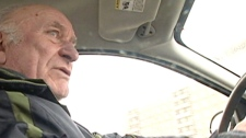 Laszlo Piszker, 74, was given a ticket by Winnipeg police for talking on a cellphone while driving, a device he denies owning.