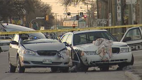 The crash on Archibald in Winnipeg was reported around 7 p.m. on April 16, 2012.