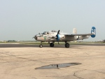 A pair of bombers from the Second World War landed in Winnipeg Monday to be displayed to the public at the Royal Aviation Museum of Western Canada.