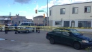 Winnipeg police blocked off Arlington and William after a pedestrian was hit around 6:30 p.m. on July 30, 2015.