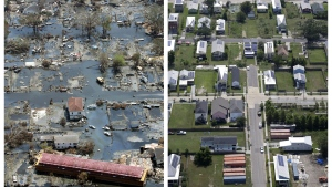 A decade has passed since one of the deadliest hurricanes in the history of the United States. Here&#39;s a look back at some of the unbelievable images from the tragic event. <br><br>  This combination of Sept. 11, 2005 and July 29, 2015 aerial photos show the Lower Ninth Ward of New Orleans flooded by Hurricane Katrina and the same area a decade later. Before Katrina, the Lower Ninth Ward was a working-class and predominantly African-American neighborhood just outside the city&#39;s historic center. (AP Photo/David J. Phillip, Gerald Herbert)
