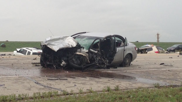 The multi-vehicle crash happened on Highway 59 at Garvin Road, near Birds Hill Provincial Park.