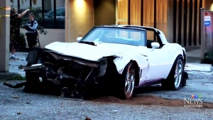 CTV Vancouver: Corvette driver flees after crash