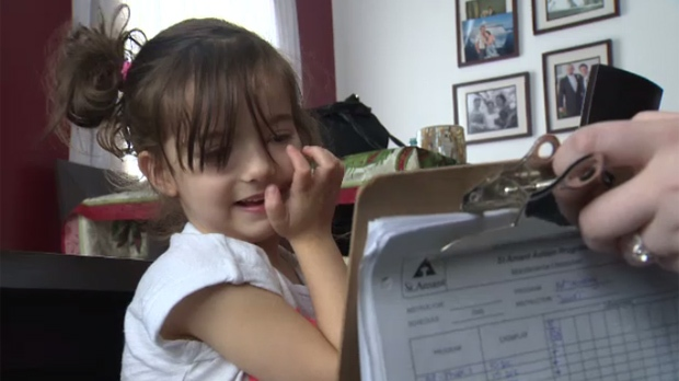 Four-year-old Katy Elias lives with autism, making it difficult for her to communicate. Her dad Mark Elias said Katy's skills have improved in the past year thanks to applied behaviour analysis, or ABA therapy, she gets at the family's home.