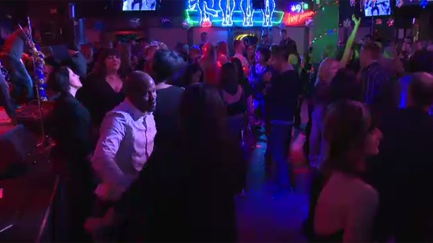 People packed the dance floor at the Palomino Club on its second-last night on Friday, Jan. 1, 2016.