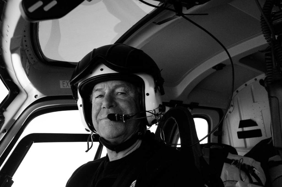 Canadian helicopter pilot David Wood, 62, has died from a fall in Antarctica. (Australian Government / James Moloney)