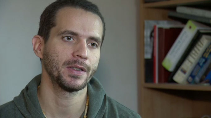 Joshua Andrew Freeman Stevens shares his story of what led to him killing a man at an ayahuasca retreat in Peru during an exclusive interview with CTV News in Winnipeg on Jan. 12, 2016.